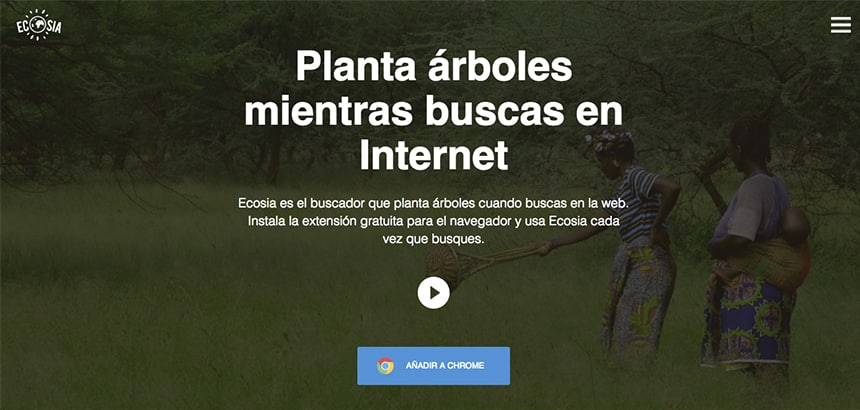 Ecosia buscador que planta árboles