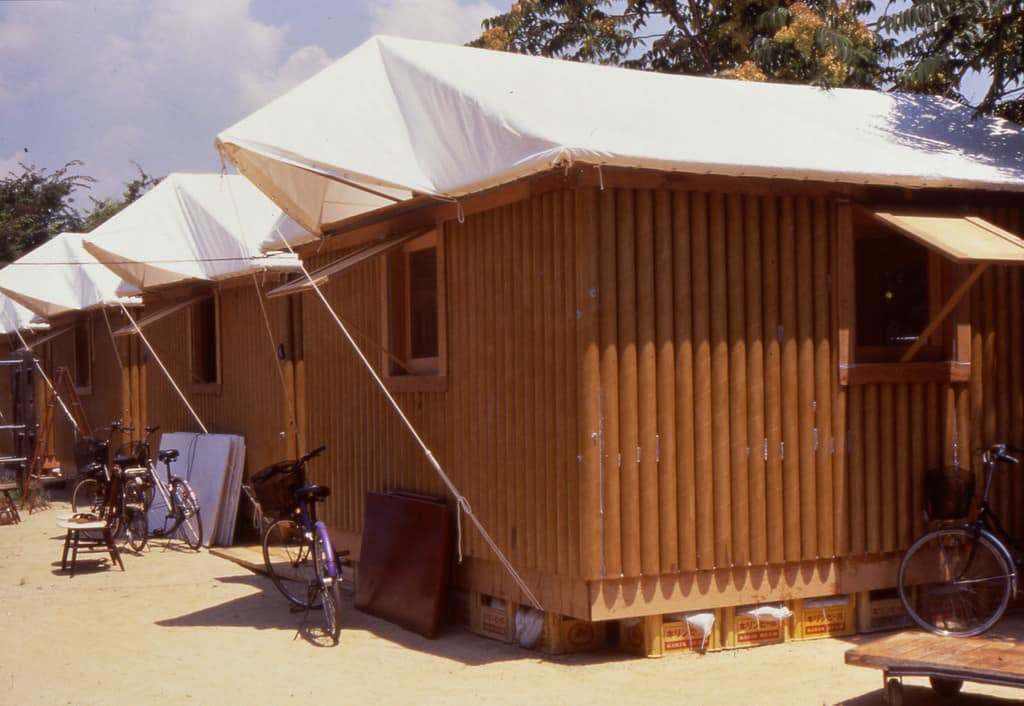 casa de carton realizada por el arquitecto Shigeru Ban