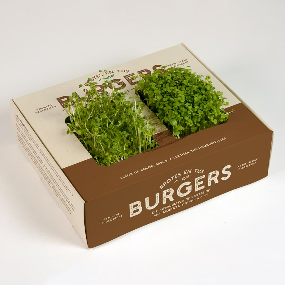 brotes verdes para hamburguesa