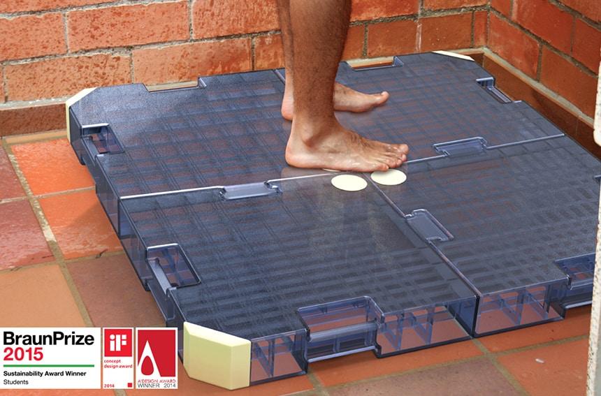 Sistema para reutilizar el agua de la ducha