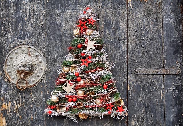 Árbol de navidad para puerta