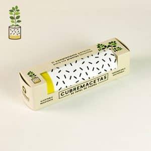 papel orgánico cubremacetas