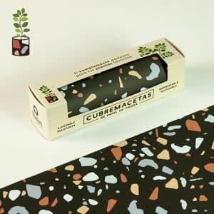 cubremacetas de papel de piedra