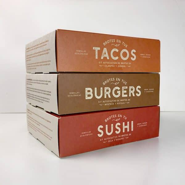 tacos, burger, sushi resetea