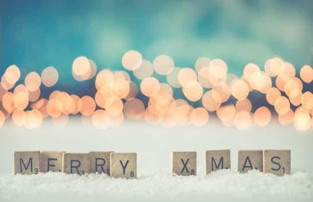 decoracion navideña con árbol