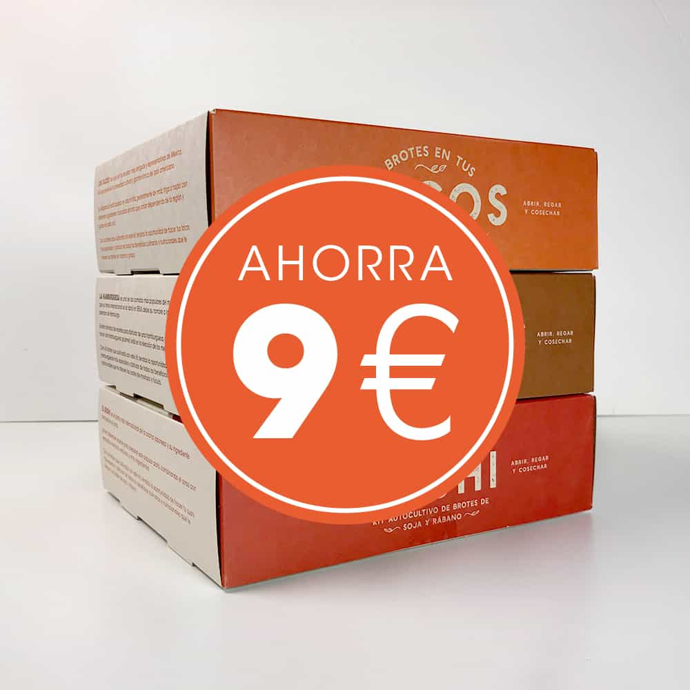 Pack 3 Kit autocultivo de brotes